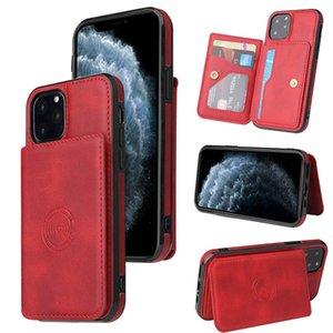 Di cuoio di lusso di caso di vibrazione per Iphone 11 iPhone7 / 8 Samsung Galaxy S10 note10 PLUS Huawei MATE 30 Pro con slot per scheda