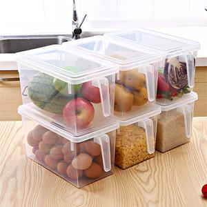 Кухня Прозрачный PP Коробка для хранения зерна Бобы хранения Изолировать Sealed Home Organizer пищевых контейнеров Холодильник Ящики для хранения