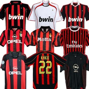 manga longa 90 91 Retro camisas casa 96 97 Gullit SOCCER JERSEY 01 02 03 Maldini Van Basten futebol RONALDO KAKA Inzaghi 06 07 AC Milan 2009