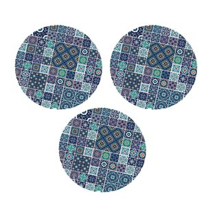 3pcs poliéster Manteles - 47 '' Round - elástico Tabla Equipada cubierta de tela de C
