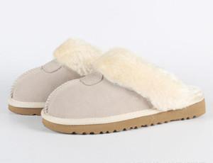 2020 heißen Verkauf australisches klassisches Boot warme Baumwolle Männer und Frauen Hausschuhe Kuhfell Baotou dlippers Schnee-Aufladungen Weihnachtsgeschenk Größe 34-45