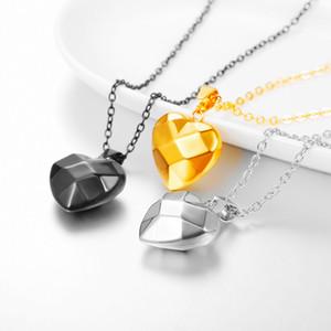 Amore a forma di cuore collane con ciondolo in acciaio inossidabile moda donna gioielli collares regalo con gioielli con ciondolo geometrico