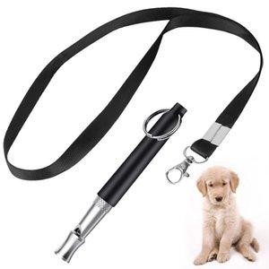 Canto Nuevo Ultrasonido Dog Whistle entrenamiento del animal doméstico del perro del silbido de Clicker del entrenamiento Combinación cese el aullido avanzada Pitch