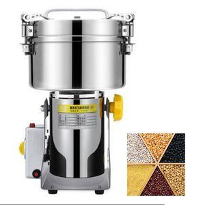 ÜCRETSİZ GÖNDERİM Yüksek verim ticari Tahıl Öğütücü Paslanmaz Çelik İçin Baharatlar / Mısır / Soya Gıda Buğday Makinesi