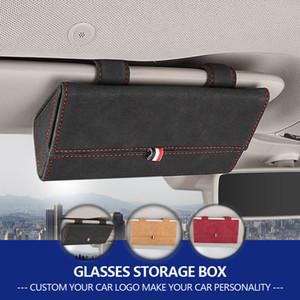 Soporte universal de Auto Car Accessories Gafas de sol de la lente de almacenamiento caja de la caja para el Benz Audi BMW Jaguar etc coche