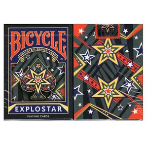 Bicycle EXPLOSTAR Playing Cards Star Deck Poker Size Cardistry USPCC Limited Edition Magic Card Games Magic Tricks Props