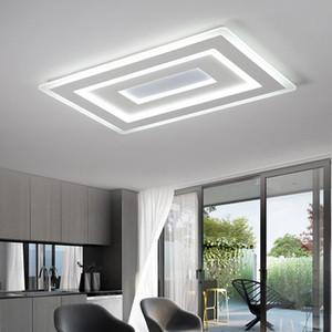 Ultrasottile Surface Mounted principali moderne plafone lamparas de techo Rettangolo acrilico Piazza dispositivi della lampada da soffitto a luce / camera da letto