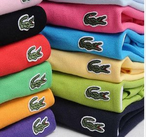 Nuovi 2020 estate Uomini T1 Top qualità CrocodileSS ricamo Polo manica corta raffreddano Cotone Slim Fit Camice casuali degli uomini di affari