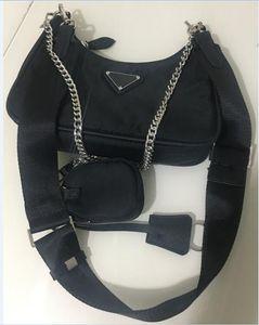 Hobo 2 adet / takım Kadınlar Omuz Çantası Su Geçirmez Tuval Naylon Göğüs Paketi Lady Tote Zincirler Çanta Presbiyopik Çanta Messenger Crossbody Çanta