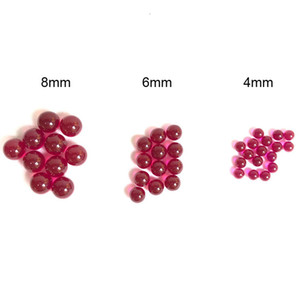 4mm 6mm 8mm Ruby Terp Pearl Dab Pearl Sapphire Ball Insert Red Color for 25mm 30mm Quartz Banger Nails Glass Bongs