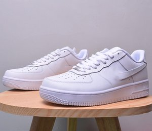 2020 Fashion High Quality Split Leather Women Men Couple Shoes White Black Sneakers Lace Up Platform Casual Shoe Breathable Soft Waterproof