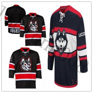 UConn Huskies Northeastern Huskies University College Hockey Jersey Ricamo cucito personalizzare qualsiasi maglie e numero