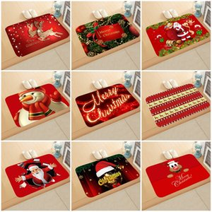 Cartoom serie Christmas Designs Suministros Forma Felpudo Alfombra rectangular de Navidad decorativo del hogar del piso para el partido Mats 6QJ E1