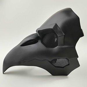 Crow Reaper Nunca más piel negra Máscaras Reaper Doctor de la plaga Máscara Aves de punta larga punk Cuervo retro roca fresca SH190922 Máscara OW PVC Tipo Punk