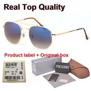 Nova chegada Brand Design 3648 óculos de sol para homens, mulheres Espelho lentes de vidro moda Metal Frame Esportes óculos de sol com casos gratuitos e etiqueta