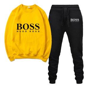 Mens Anzug Sportanzug Bos Männer Casual Baumwolle Frühling und Herbst-Sweatshirt für Männer Casual Sportswear Druck