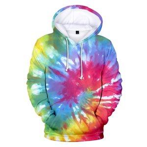 Tie Dye Flashbacks 3D Oversized Hoodies Men Women Boys Girls Colorful Psychedelic Tie Dye 3d Print Mens Pop Hooded Sweatshirts