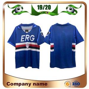 90/91 Sampdoria Retro versiyonu Futbol Forma 1990/1991 Sampdoria Vintage Klasik Futbol Gömlek camicie da Futbol Gömlek Üniformalar