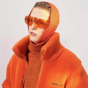 Mens Designer Casacos de inverno Plush Sólidos Carta Cor Bordado solto lã quente Manga comprida Fique Collar Zipper Moda Mens Coats