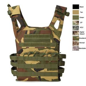 Deportes al aire libre Airsoft Gear Molle Pouch Bag Carrier Camuflaje Body Armor Combat Assault Tactical Molle Vest JPC Plate Carrier NO06-010C