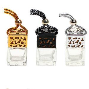 Désodorisant à air suspendu suspendu de parfum de parfum de voiture de bouteille de verre vide pour le diffuseur d'huiles essentielles Fragrance Car-styling mini diffuseur d'arome