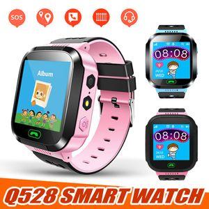 Q528 Montre intelligente Enfants étanche Baby Watch avec des appels SOS SIM Caméra à distance LBS Emplacement cadeau pour les enfants PK U8 DZ09 GT08