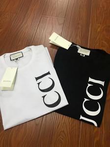 2020 Mens T Shirt di lusso del fiore di estate casuale del nuovo progettista del modello di vestiti lettere stampate a maniche corte T superiori colorati formato asiatico