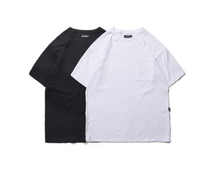 Moda High Street Summer Tshirt Mens Casual Solid Designer Brief Tees Rilassato Adolescente Rilassato Clothin