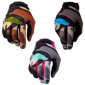 Novas sete corridas luvas de equitação da motocicleta luvas de dedo longo luvas desportivas ao ar livre