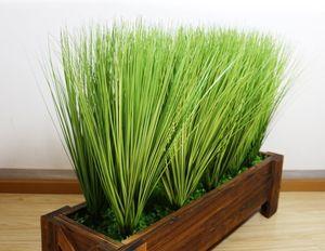 60 سنتيمتر إجازة الاصطناعي محاكاة ورقة البصل العشب الحرير زهرة الديكور زهرة ترتيب العشب هندسة النباتات محاكاة وهمية