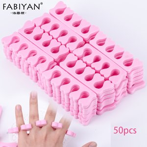 Santé / Beauté 50pcs Paquet rose Toes Nail Art Fingers ressuage Separators Outils éponge douce Gel UV manucure pédicure polonais