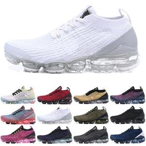 Nike Air Vapormax flyknit 3.0 2019 Top Fly 3.0 Das Mulheres Dos Homens Tênis de Corrida Triplo Preto Branco Azul Malha Brand New 3 s Sapatilhas de Corrida Designer Esporte Sapatos