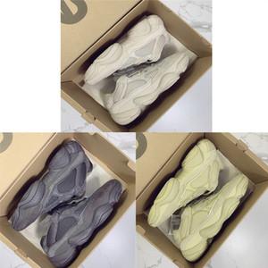 Mit Box Kanye 500 Laufschuhe Schwarz Super Moon Gelb Blush Desert Rat kanye West 500s Sportschuhe Designer Damen Sneakers Herren Trainer