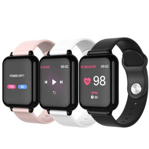 B57 أفضل تعقب اللياقة البدنية ساعة ذكية لفون ANDRIOD النساء الرجال للماء ساعة بلوتوث الرياضة مع مراقبة ضغط الدم معدل ضربات القلب