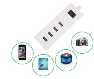 Multi-Port USB Charger, 5V 4A 4 porte USB Hub Rapid Desktop Charging Station Adattatore USB per Apple iOS, Samsung Android