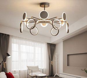 Fashional Dinning Room Moderne Kronleuchter Kreis Ringe LED-Kronleuchter Pendelleuchten Licht für Innenbeleuchtung AC 85-260V Vielfalt der Formen