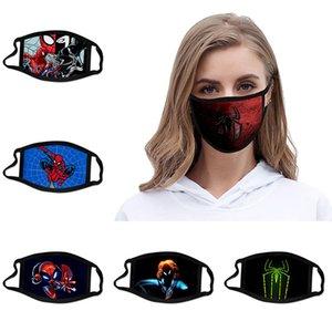 Örümcek Adam tarzı B 3D baskı Tasarımcı yüz maskesi pamuk yeniden yüz maskeleri Dış Mekan Spor Binme Maskeler Moda Pamuk Tasarımcı Maskesi