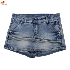 Donne Skort Shorts 2020 signore sexy di stile di modo Estate Shorts Gonna Mini Plus Size Skorts femminili Blu Colore Short Womens Jeans