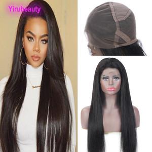 Brésilien Cheveux Vierge 180% Densité de dentelle perruque Silky droite pas cher 10-28inch dentelle pleine perruques haute densité 180