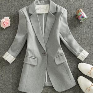 women blazer plus size suit striped jacket female spring summer new Korean slim thin stripe professional jacket