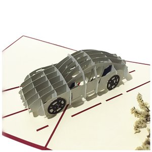 Sports Car Handmade 3D Pop Up Birthday Cards creativo do Supplies Cartões do partido do evento Other