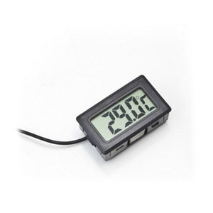 2019 Yeni Dijital LCD Ekran Termometre Buzdolabı Buzdolabı Dondurucu Akvaryum BALIK TANKı Sıcaklık-50 ~ 110C GT Siyah beyaz Renk w1128