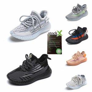 2020 Designer Clay V2 Chaussures de course pour enfants Kanye West Synth Lundmark Hyperspace True Form Entraîneur Sneakers Glow Gid # 411