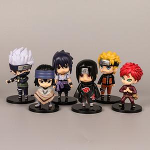 Série NARUTO Figuras de Ação Boneca Brinquedos Uzumaki Naruto Estatueta Brinquedos Uchiha Sasuk Hatake Kakashi Boneca Desktop Decoração