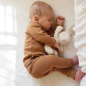 0-2Y Toddler Newborn Infant Baby Girls Boys Clothing Set Autumn Long Sleeve T-shirt+ Lace-up Pants Outfits Unisex Baby Costumes