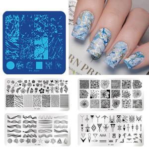 PICT VOCÊ animal Padrões prego Estamparia Placas Template Stamping aço inoxidável Nail Art Design Selo do estêncil Ferramentas
