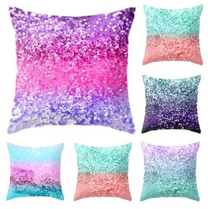 Moda Sanat Çocuklar Için Kapak Süper Yumuşak Yastık Kılıfı 45x45 cm Glitter Sequins Renkli Yastık Kılıfı Sequins Yastık Kapak JSX
