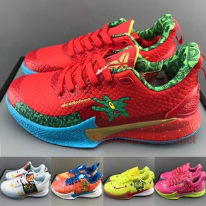 Zapatos Bryant Mamba Enfoque baloncesto de los niños 2020 muchachas de los muchachos zapatillas Spongebaby Pineapple House Bandulu estrellas de mar Los niños tamaño de los zapatos 28-35