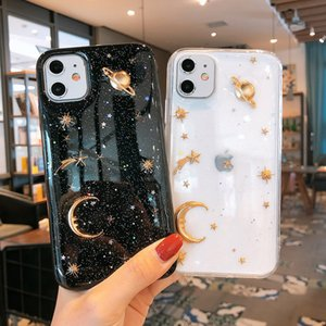Bling Glitter Case For iPhone 11 Pro Max XR X XS Max 7 8 Plus SE 2 2020 Clear Phone Case Shining Star Sequins Soft Silicon Cover