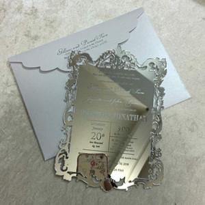 아크릴 초대 아크릴 메뉴 카드 / 레이저 에칭 / 새겨진 거울 결혼식 메뉴, 거울 아크릴, 아크릴 초대,